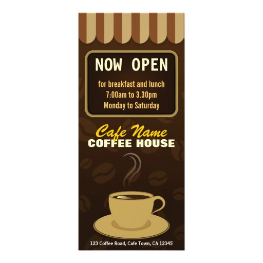 Coffee Menu Coffee Shop Coffee Cup Cafe Rack Cards | Zazzle