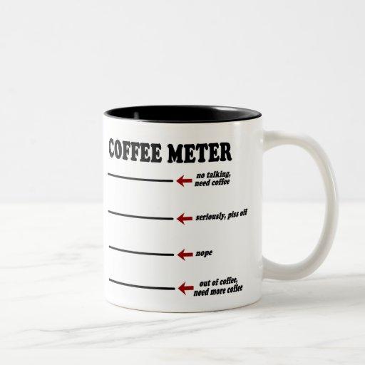 Coffee Meter (The Original Coffee Meter Mug!) Two-Tone Coffee Mug