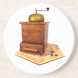 coffee mill beverage coaster