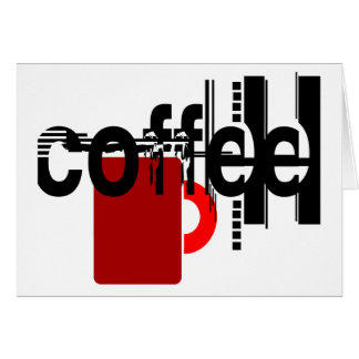 Coffee Minimalist Graphic Art Any Occasion Card