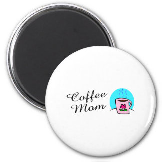 Coffee Mom 2 Inch Round Magnet