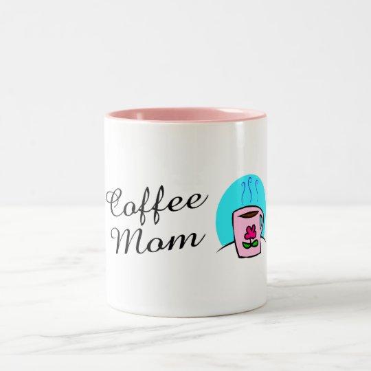 Coffee Mom Two-Tone Coffee Mug