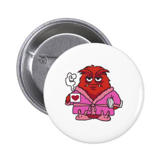 COFFEE MONSTER 2 INCH ROUND BUTTON