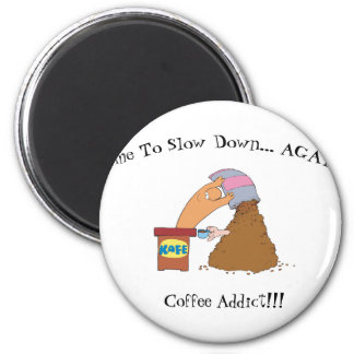 Coffee Monster 2 Inch Round Magnet