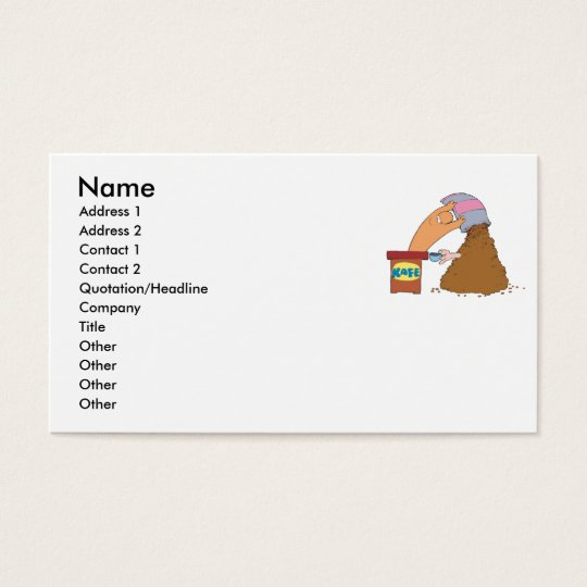 Coffee Monster Business Card