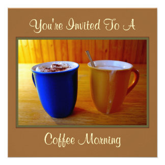 Coffee Morning Custom Invites