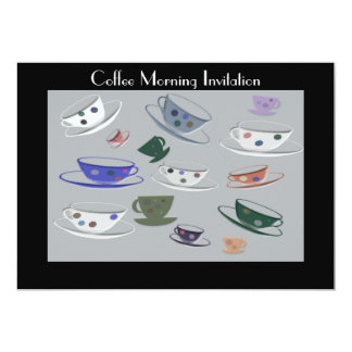 Coffee Morning Invitation Card
