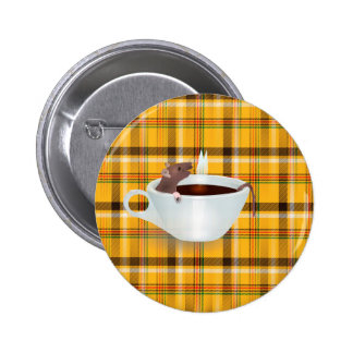 coffee mouse pinback button