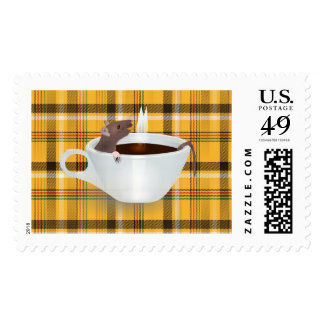 coffee mouse postage postal stamps
