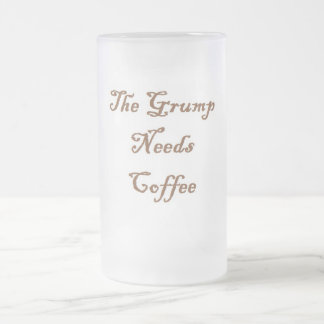 Coffee 16 Oz Frosted Glass Beer Mug