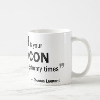 Coffee mug - 'A coach is your beacon...'