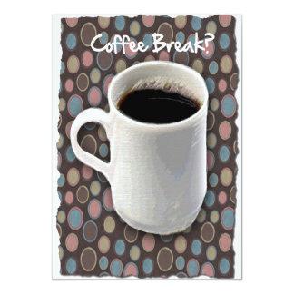 Coffee Mug and Ovals Coffee Break Card