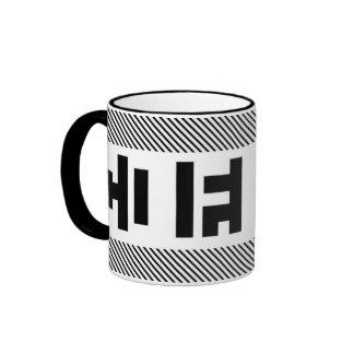 """""""COFFEE"""" Mug: black"""