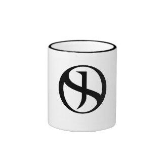 Coffee Mug - Black Handle & Rim