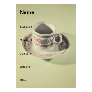 Coffee mug business card templates