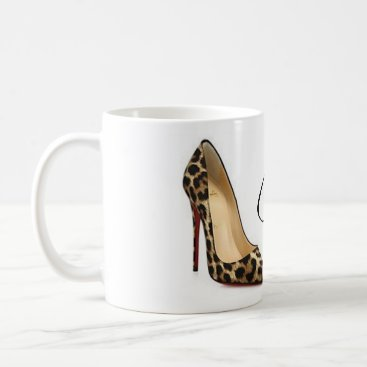 Coffee Themed Coffee Mug Cinderella Leopard Shoes Quote Tea Cup