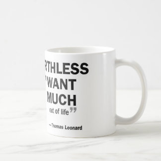 Coffee mug - 'Coaching is worthless to...'