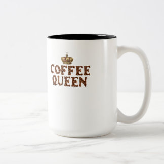 "Coffee Mug - ""Coffee Queen"" with Gold Crown"
