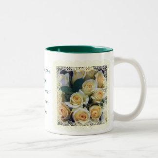 Coffee Mug - Creamy Yellow Roses in Lace
