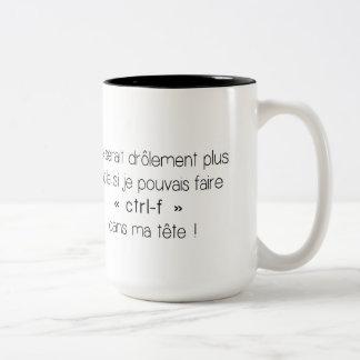 Coffee mug - ctrl-f (French)