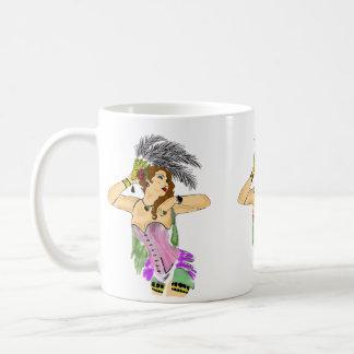 COFFEE MUG CUP CANCAN DANCER LADY