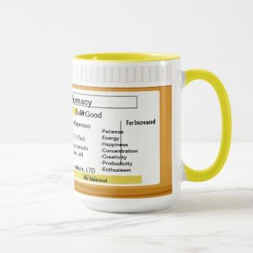 Coffee Themed Coffee Mug Customizable Prescription RX