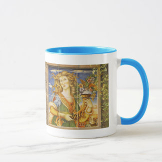 Coffee Mug--Deruta Tile Lady Mug