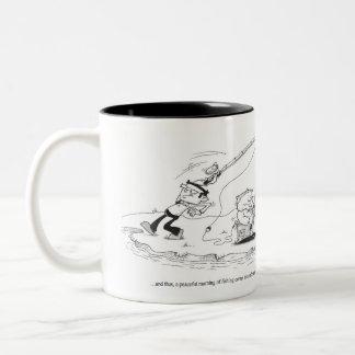 Coffee Mug - Fishing Cartoon - Abrupt End