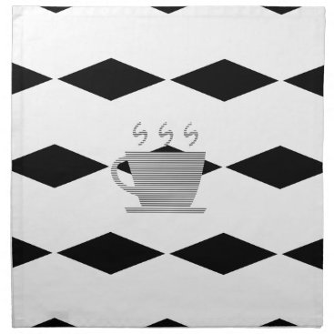 Coffee Themed Coffee mug - geometric pattern . napkin