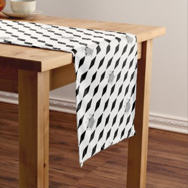 Coffee Themed Coffee mug - geometric pattern . short table runner