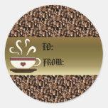 Coffee Mug Gift Tag Stickers