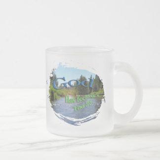 Coffee mug. God has feeling too Frosted Glass Coffee Mug