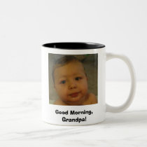coffee mug, Good Morning, Grandpa! Two-Tone Coffee Mug