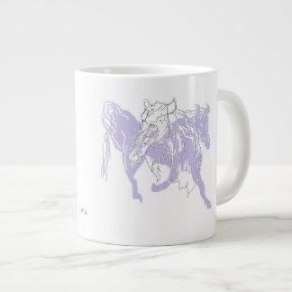 Coffee Mug Horse in Flight/Silhouette