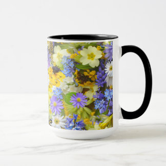 Coffee Mug In Spring Flowers Design