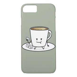 Coffee mug latte coffee eating sugar cubes cream iPhone 8/7 case