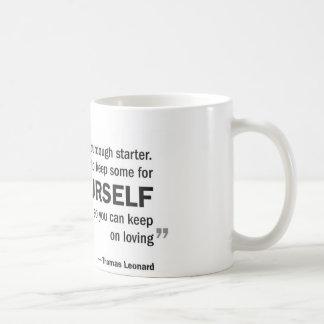 Coffee mug - 'Love is like sourdough starter...'