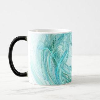 Coffee Mug, more options: Fractal Light Aqua Art