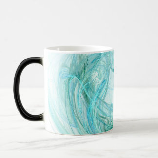 Coffee Mug, more options: Fractal Light Aqua Art Magic Mug