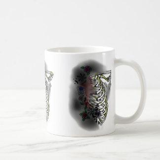 COFFEE MUG MORNING DEATH FLORAL ART PRINT