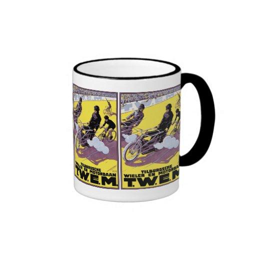Coffee Mug:  Motorbike & Bicycle Race