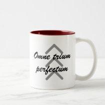 """Coffee Mug """"Omne trium perfectum"""""""