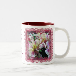 Coffee Mug - Peruvian Lilies in Lace