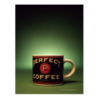 Coffee mug postcard