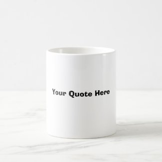 Coffee Mug Quote Template