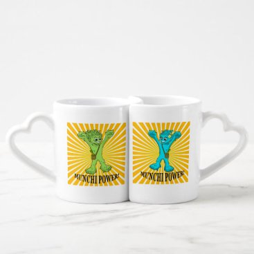 Wedding Themed Coffee Mug Set Munchi Power!  Munchimonster & Mrs
