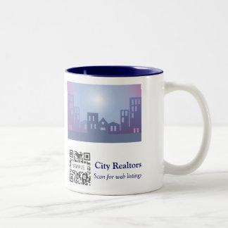 Coffee Mug Template City Realtors
