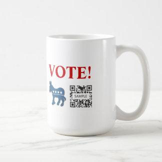 Coffee Mug Template Democrat Donkey