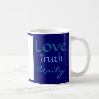 Coffee Mug Unity, Truth, Love,