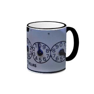 Coffee mug utility meter